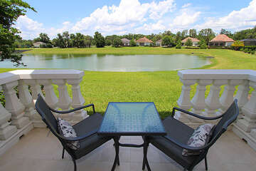 Seating that overviews the lake