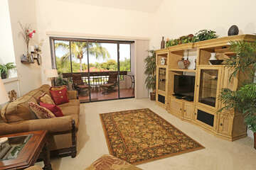 Living room with back lanai access