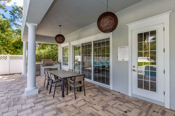 The villa features a summer kitchen perfect for delicious BBQ cookouts