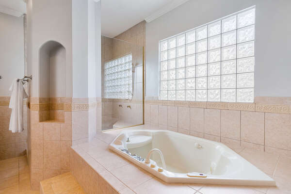 Relax and unwind in this amazing bathtub