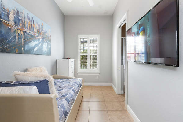 Bedroom 5 is perfect for the kids to enjoy with a Twin bed and Trundle