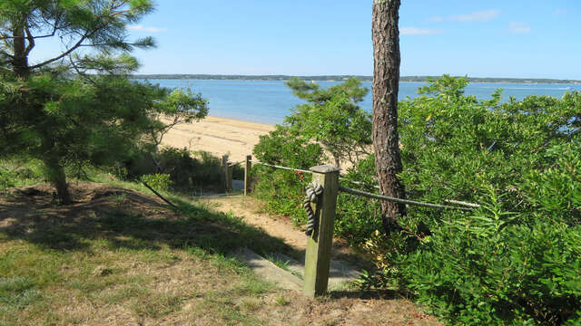 Steps down from the bluff-66 Rush Drive Chatham Cape Cod New England Vacation Rentals