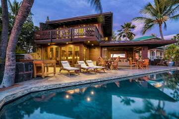 Private Pool, Lounge Pool Chairs, BBQ, and the Covered Lanai