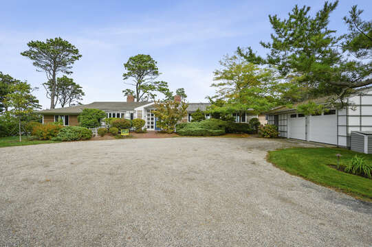 Entrance with parking. 66 Rush Drive Chatham Cape Cod New England Vacation Rentals