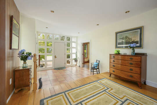 Front Entryway with den entrance off to your left. 66 Rush Drive Chatham Cape Cod New England Vacation Rentals