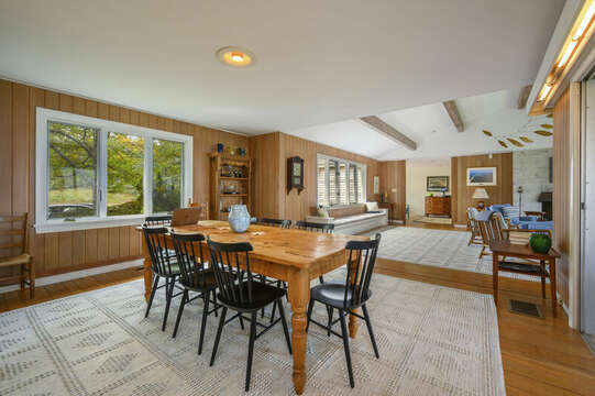 Large Dining Area which opens to the Living area- 66 Rush Drive Chatham Cape Cod New England Vacation Rentals