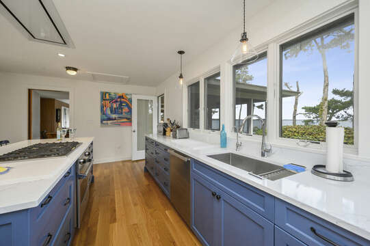 Enjoy cooking with an Ocean view.  66 Rush Drive Chatham Cape Cod New England Vacation Rentals