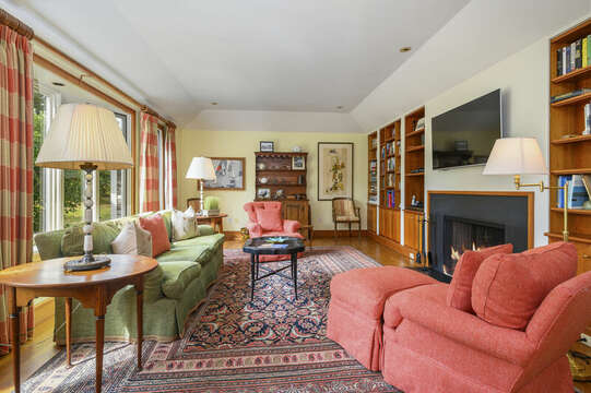 Study with flat screen TV. 66 Rush Drive Chatham Cape Cod New England Vacation Rentals