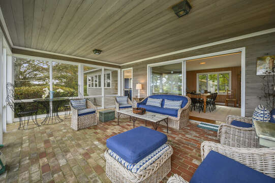 Relax on the Enclose Sunroom off the Dining Area. 66 Rush Drive Chatham Cape Cod New England Vacation Rentals