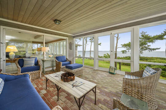 Enclosed Sunroom with Ocean Views. 66 Rush Drive Chatham Cape Cod New England Vacation Rentals