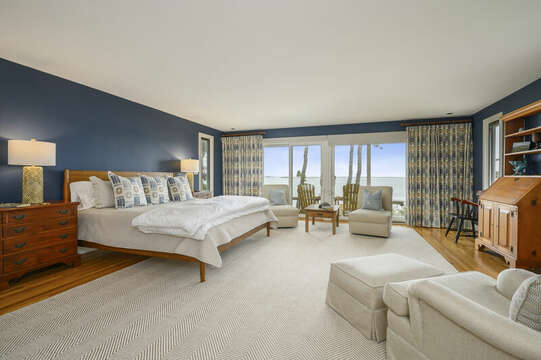 Master Bedroom with King bed. 66 Rush Drive Chatham Cape Cod New England Vacation Rentals