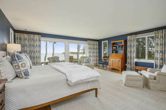 Master Bedroom with views. 66 Rush Drive Chatham Cape Cod New England Vacation Rentals
