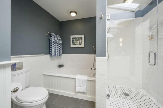 View of Tub in Master Bathroom. 66 Rush Drive Chatham Cape Cod New England Vacation Rentals