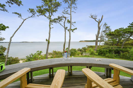 Sit and enjoy your favorite cocktail on your private master suite deck. 66 Rush Drive Chatham Cape Cod New England Vacation Rentals