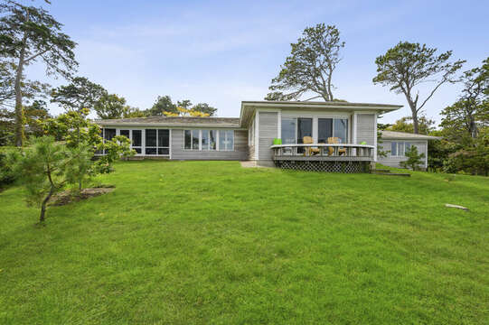 Back view of the home. 66 Rush Drive Chatham Cape Cod New England Vacation Rentals