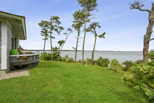 Beautiful Ocean views from the back yard. 66 Rush Drive Chatham Cape Cod New England Vacation Rentals
