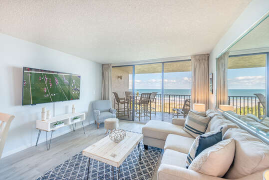 You'll never have to lose sight of the beach & ocean when watching the big game!