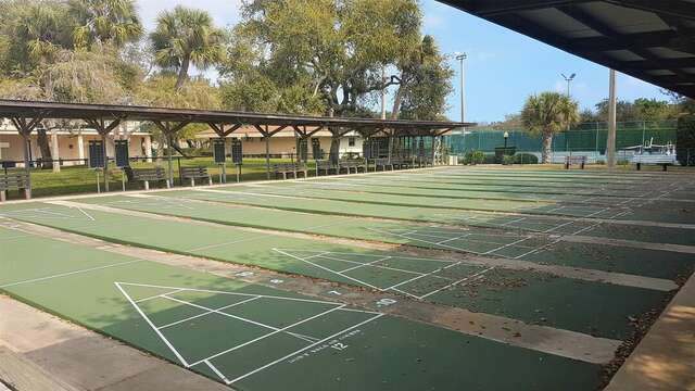 12 lit shuffleboard courts just 400 yards from the condo!