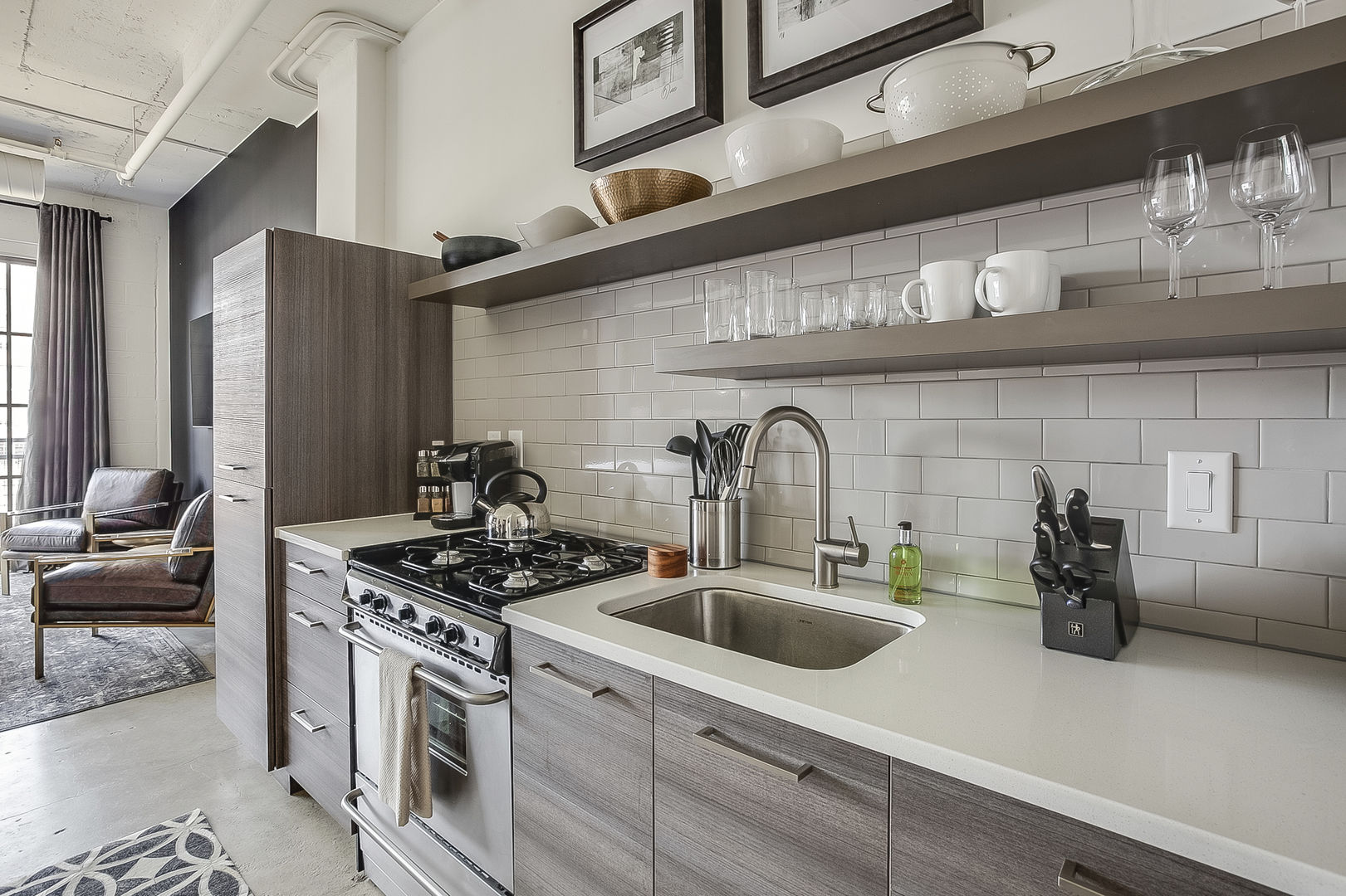 Kitchen with sink and oven