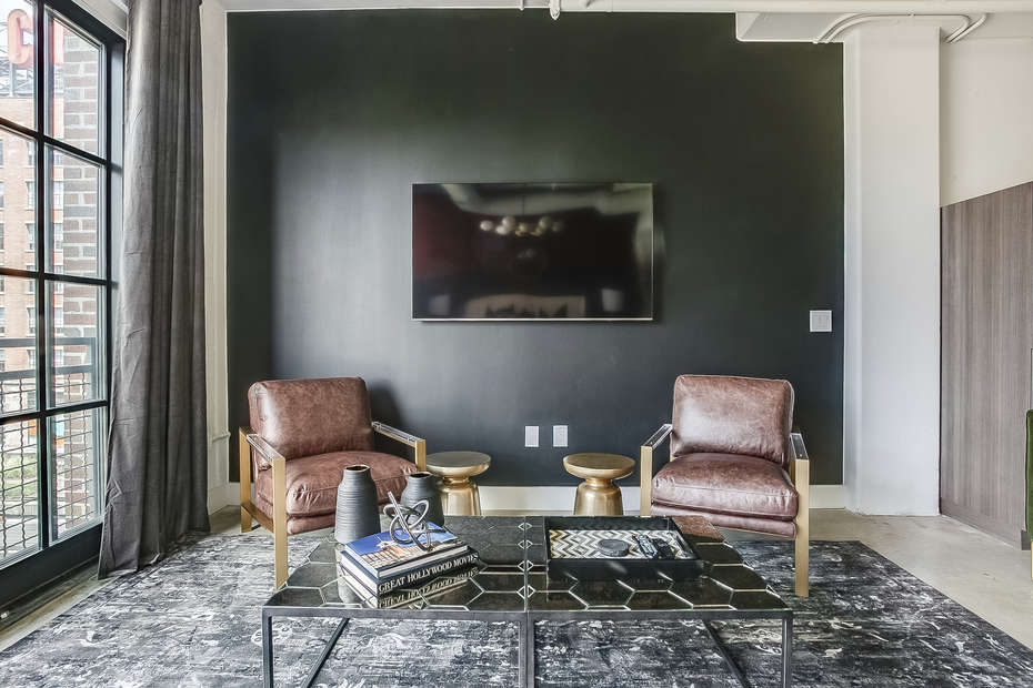 Living area in this Flat At Ponce City Market