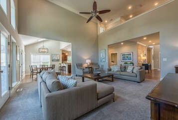 Open concept living - providing the best space for all guests.