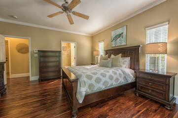 Main level master bedroom with queen bed - full attached bath