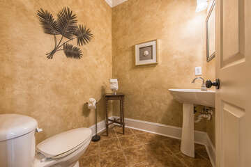 Main level half bath - easy access for all guests.