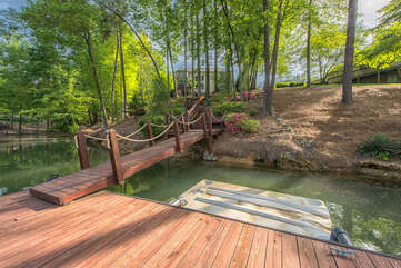 Plenty of dock space for swimming, lounging and fun!