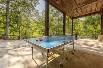 Outdoor ping pong table - challenge the kids to a tourney during your stay!