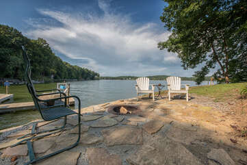 Lakeside Fire Pit - nothing better than these expansive lake views!