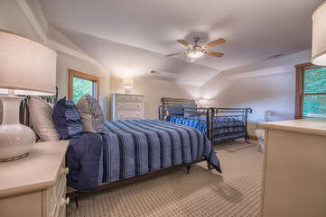 Upstairs guest room - features 2 queen beds - sleeps 4, new bedding!