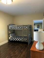 Lower Level Guest Room - twin size bunk beds, room sleeps 4