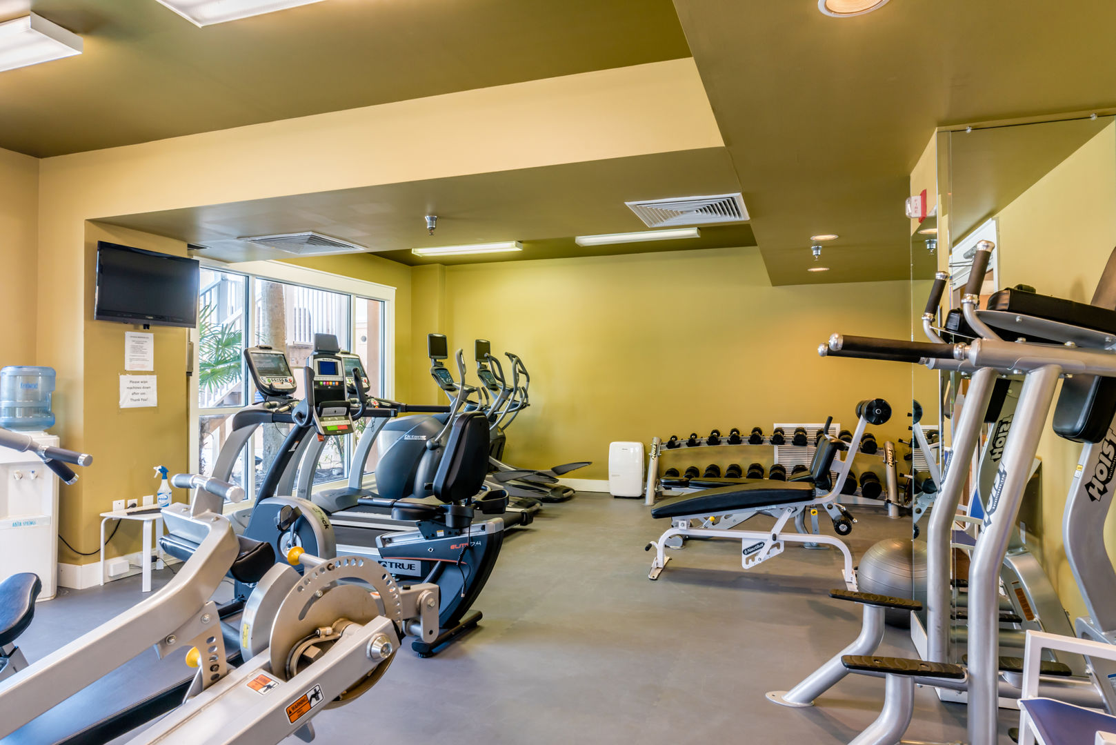 Guests will have access to a fitness center.
