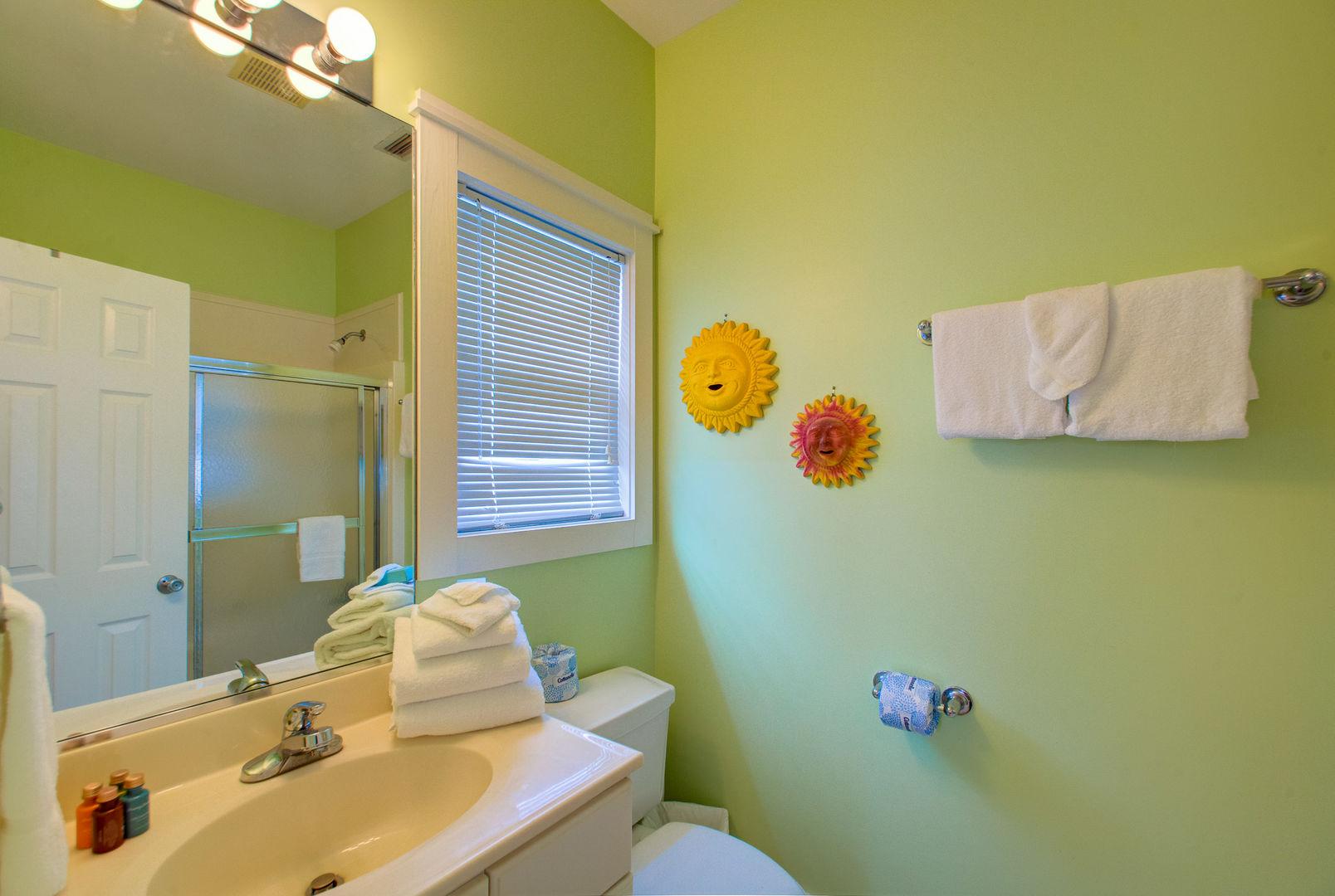 Bedroom #4 private bath.