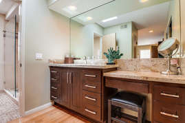 Sink and counter space in master bedroom before entering bathroom.