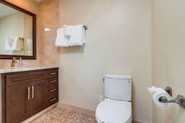 En suite bathroom off master bedroom.