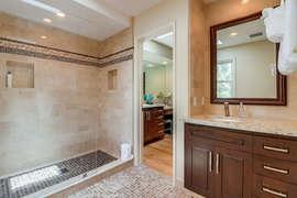 Second vanity inside en suite bathroom.