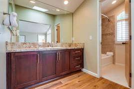 En suite bathroom for second bedroom.