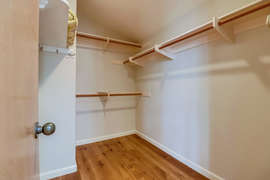 Large closet in second bedroom for extra storage.