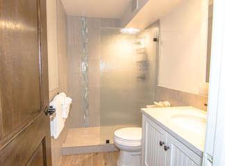 Remodeled guests bathroom