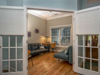 Office/Den with with french doors