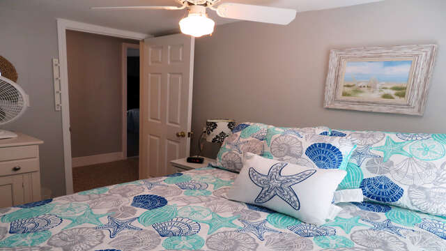 Bedroom with Full bed-128 Sea Street Unit 11 Dennisport Cape Cod New England Vacation Rentals