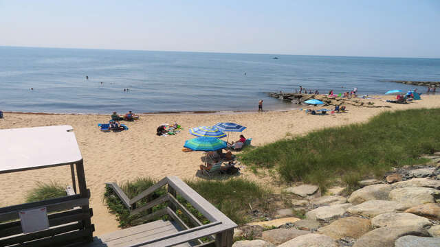 Sandy beach at the end of Sea Street - just .4 tenths of a mile-Sea Street Beach Dennisport Cape Cod New England Vacation Rentals