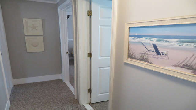 Hallway to all 3 bedrooms-128 Sea Street Unit 11 Dennisport Cape Cod New England Vacation Rentals