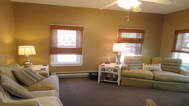 Comfy seating and Free Wifi-128 Sea Street Unit 11 Dennisport Cape Cod New England Vacation Rentals
