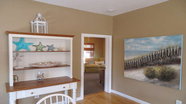 Off to the right is the living room-128 Sea Street Unit 11 Dennisport Cape Cod New England Vacation Rentals