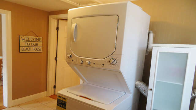 Washer and dryer located on main floor for your convenience-128 Sea Street Unit 11 Dennisport Cape Cod New England Vacation Rentals