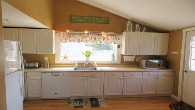 Bright- light and open kitchen! 128 Sea Street Unit 11 Dennisport Cape Cod New England Vacation Rentals