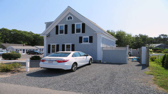Private fully fenced outdoor area-128 Sea Street Unit 11 Dennisport Cape Cod New England Vacation Rentals