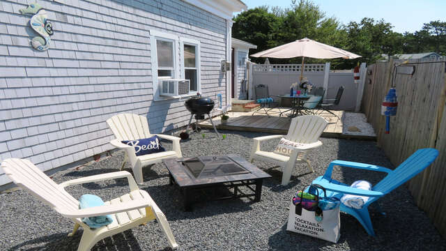 Firepit for your enjoyment! 128 Sea Street Unit 11 Dennisport Cape Cod New England Vacation Rentals